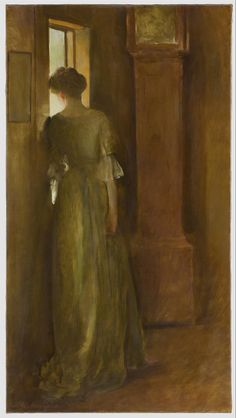 John White Alexander. I can feel movement-- it's like I'm there, watching her, waiting for her to sigh, and turn towards me in sorrow, and begin mourning all her troubles... It makes me feel poetic. :)