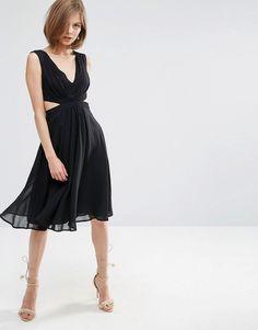 Image 1 ofASOS Side Cut Out Midi Dress