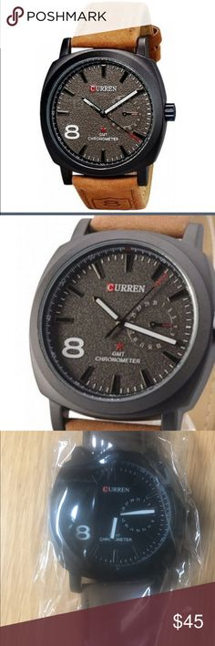 Curren Men's Watch in Brown⌚️- *NWT* Curren Men's Watch in Brown⌚️- *NWT* In new and unopened packaging. Looks great on Hubby or Dad. 👉🏼Bundle and save curren Accessories Watches