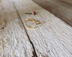 Open Circle ring Minimal ring Gold plated ring Stacking by CyKLu