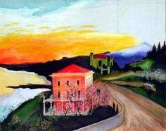 Carol: Csontváry-Kosztka Tivadar (1853-1919) ~ magyar festő Post Impressionism, Artist Painting, Cool Artwork, Art School, Paintings, Sculpture, Inspiration, Canvas, Artworks
