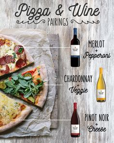 Sutter Home Wine and Pizza Pairings, Food And Drinks, Wine and Pizza Pairing Guide: A list of delicious combinations for your next wine and pizza night. Pizza Y Vino, Wine And Pizza, Sutter Home, Bar A Vin, Wine Guide, Wine Night, Wine Parties, Parties Food, Wine Cheese