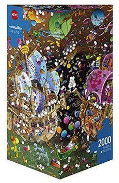 Puzzle 2000 CARTOON (τρίγωνο κουτί) Mordillo - Το Φιλί