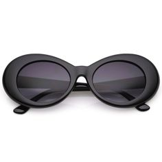 e450a3019d Retro Oval Sunglasses With Tapered Arms Neutral Colored Gradient Lens 50mm ( Black   Lavender)