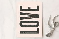 In Love Wedding Invitations