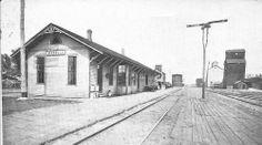 Chicago, St. Paul, Minneapolis & Omaha (Omaha Road) depot at Madelia, Minnesota.