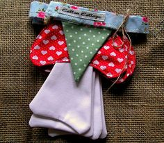 Toadstool Bunting. Create a fairytale by CottonCottagecouk on Etsy, £15.00