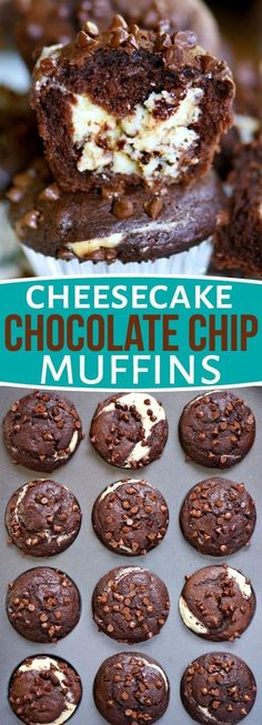 Cheesecake Chocolate Chip Muffins