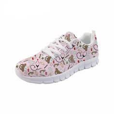 Nurse Pattern Pink Sneakers for Women Pink Sneakers, Casual Sneakers, Comfy Shoes, Comfortable Shoes, Nursing Shoes, Running Sneakers, Loafers For Women, On Shoes, Flat Shoes