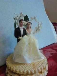 Antique wedding cake topper.