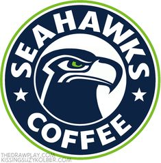 """Hipster NFL logos: Seattle Seahawks """"I spend so much time in my local coffee shop they asked me to pay rent."""""""