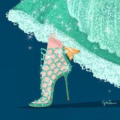 ディズニーのデザイナーさんが描いた、ディズニーキャラ達の靴の絵。これは現代のブランドだったらどれが合うか、というテーマのイラストなんですがすっごくキレイだと話題です!