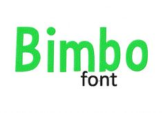 "BimboXXX Uppercase, Lowercase, Numbers and Bonus Punctuation  Sizes: 1"" 2"" & 3"""