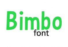 Bimbo Machine Embroidery Font Set