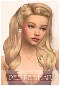 Wondercarlotta - Sims 4 — Desiree Hair I had some issues with this hair but. Sims 4 Game Mods, Sims Games, Sims 4 Mm Cc, Sims Four, Sims 4 Mods Clothes, Sims 4 Clothing, Maxis, Pelo Sims, The Sims 4 Packs
