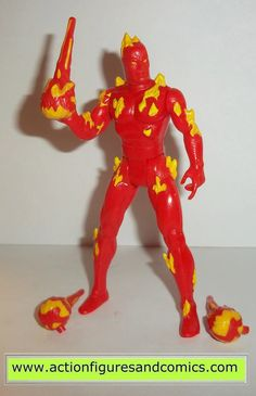 marvel super heroes toy biz HUMAN TORCH 1991 action figures universe