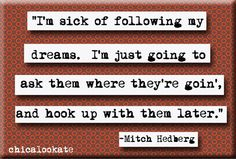 Mitch Hedberg Dreams Quote Refrigerator Magnet or by chicalookate, $4.00