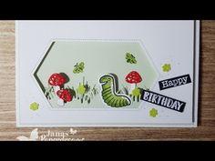 wiggle worm birthday card/ wiggle worm Geburtstagskarte mit Stampin Up . Kids Cards, Worms, Stampin Up Cards, Gift Bags, Birthday Cards, Birthdays, Card Making, Bee, Scrapbooking