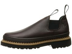 Georgia Boot GR262 Georgia Giant Romeo Men's Slip on Shoes Brown
