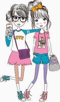 Emily Kiddy: Selfie Illustrations at Wilkinsons