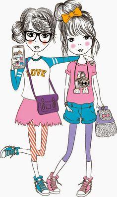 Emily Kiddy: Selfie Illustrations at Wilkinsons