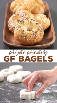 These simple Weight Watchers gluten free bagels are made with just 5 simple ingredients and have only 3 SmartPoints each. Even if you're not on (or even interested in) WW, you're going to love how easy this dough is—and how it tastes! #glutenfree #weightwatchers #ww #lowfat #healthy #gf