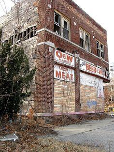 Abandoned store, Detroit, Michigan
