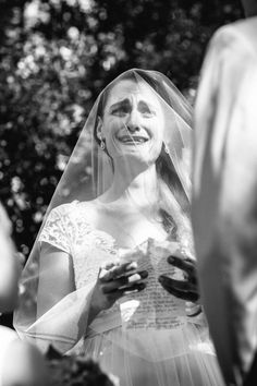 Intimate moment captured by Julian Kanz while the bride read her vows