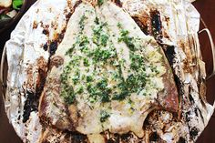Grilled Yellowtail with Herb Butter - aninas recipes : Grilled Yellowtail - with a delicious herb butter Braai Recipes, Tuna Recipes, Cooking Recipes, What's Cooking, Yellowtail Recipe, Good Food, Yummy Food, Herb Butter, Fresh Seafood