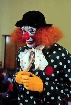Harald Juhnke als Clown VerkleidungKarneval Fasching Kostüm Hut Perücke