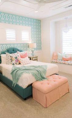 Teenage Girl Bedroom Designs, Teenage Room Decor, Teenage Girl Bedrooms, Girl Rooms, Boy Teen Room Ideas, Bed Ideas For Teen Girls, Small Girls Bedrooms, Bedroom Ideas For Small Rooms Women, Kids Girls
