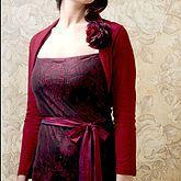 Belle Shrug In Deep Red Fine Knit - women's fashion Coats For Women, Jackets For Women, Alternative Fashion, Silk Dress, Beautiful Dresses, Bridesmaid Dresses, Knitting, Deep, Womens Fashion
