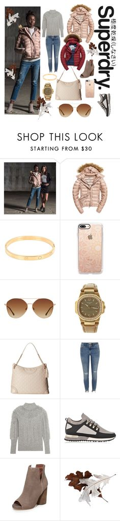 """""""The Cover Up – Jackets by Superdry: Contest Entry"""" by michele-nyc ❤ liked on Polyvore featuring Superdry, Fuji, Cartier, Casetify, MANGO, Patek Philippe, Tory Burch, River Island, Temperley London and Jeffrey Campbell"""