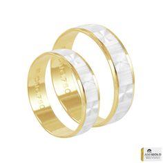 Aliança Bodas de Prata em Ouro - AU2773 | Bruna Tessaro Joias - brunatessaro #alianzadeplata #aliançadeprata #silverweddingring