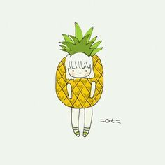Pineapple lady, cool drawing