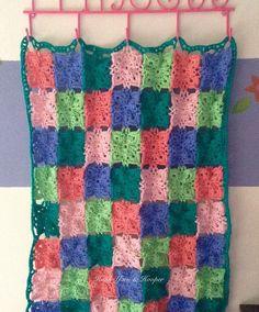 Crochet Baby Girl Blanket by HookYarnAndHooper on Etsy