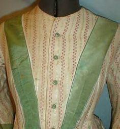 60s cotton or wool, silk trim