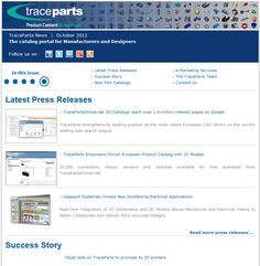 Corporate newsletter October.  Latest Press Releases, Success Stories, New Parts Catalogs, e-Marketing Services, The TraceParts Team.    http://www.traceparts.com/news/newsletters/TraceParts-newsletter.asp?idfile=newsletter-actu-201210-EN_source=Social-Network_medium=Pinterest_content=Corporate-Newsletter-October-2012_campaign=EN