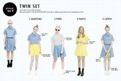 Twin Set Styling Ideas! <3 http://www.thewhitepepper.com/products/denim-twin-set