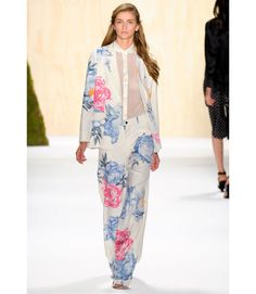 For this look, Adam Lippes went oversized — in both the fit and the floral print.    - MarieClaire.com