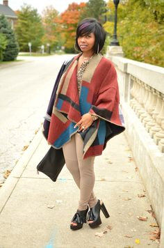 YES to this entire look!  Love the cape!
