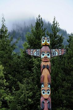 Although totem poles have become a symbol of all Northwest Coast Native people and their use has spread to neighboring tribes through the years, tall multiple-figure poles were first made only by the northern Northwest Coast Haida, Tlingit, and Tsimshian peoples in Southeast Alaska and British Columbia.