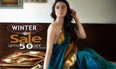 Make the most of the exciting #winterdeals at #Shatika to build your vintage #wardrobe! Get upto 50% off on the entire #collection!   #Wintersale #Discount #Offers #Onlineshopping #Handloomsarees