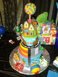 Pixar Movies Themed Cake