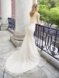 1920'S BEADED MERMAID BRIDAL GOWN WITH NET GODETS | D8122 | Val Stefani