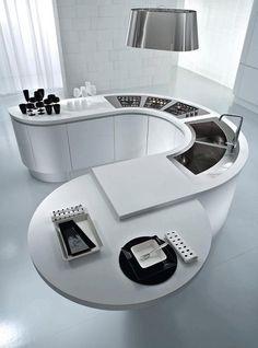 Mineralwerkstoff Hi Macs Küchengestaltung Wandverkleidung Esstisch  Küchenspüle Arbeitsfläche | Küche Möbel   Küchen   Kücheninsel | Pinterest  | Macs