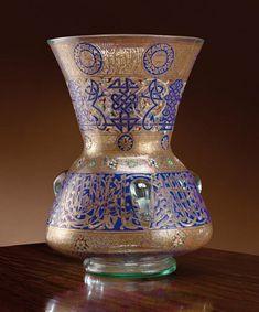Philippe-Joseph Brocard, 1831-1896 , Lampe de mosquée, 1881 ou 1884 ? A polychrom enamelled glass mosque lamp by Philippe-Joseph Brocard. ...