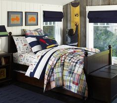 Catalina Cottage Bedroom Set | Pottery Barn Kids; Love the bedding and the furniture.