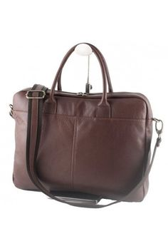 """""""Made In Italy"""" Genuine Leather Briefcase, Laptop Bag -  https://largepurseshop.com/collections/leather-briefcases/products/designer-inspired-crazy-horse-pull-up-leather-backpack"""