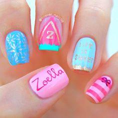 Zoella Beauty Nails | Sweet Inspirations #zoella #zoellabeauty #zoellanails #nails